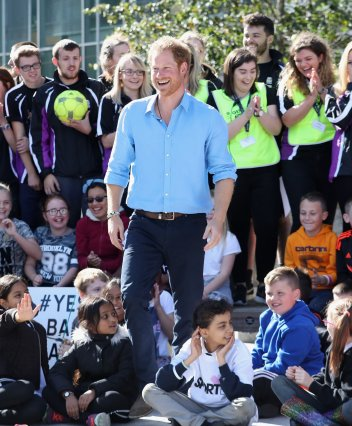 Prince Harry at a Streetsport Initiative