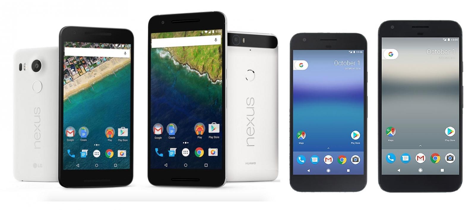 Nexus 5X, Nexus 6P, Google Pixel