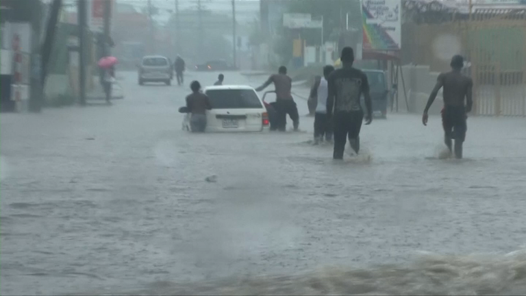 Kingston hit by heavy rainfall as Hurricane Matthew draws closer to the Carribean
