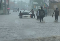 Kingston hit by heavy rainfall as Hurricane Matthew draws closer to the Carribean