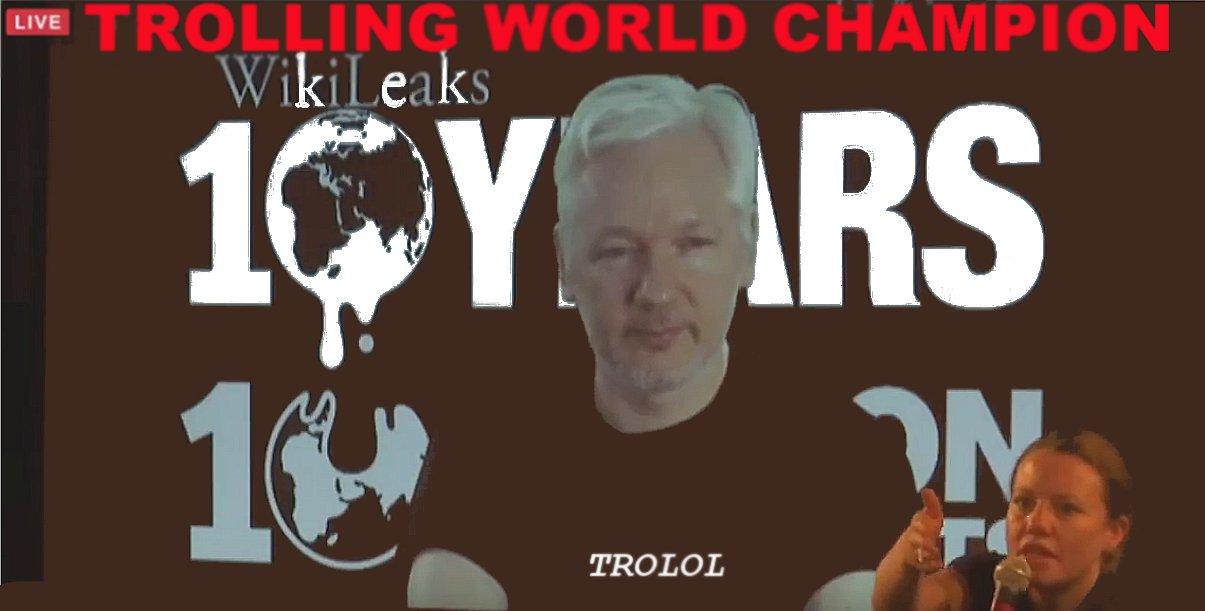 Julian Assange troll meme