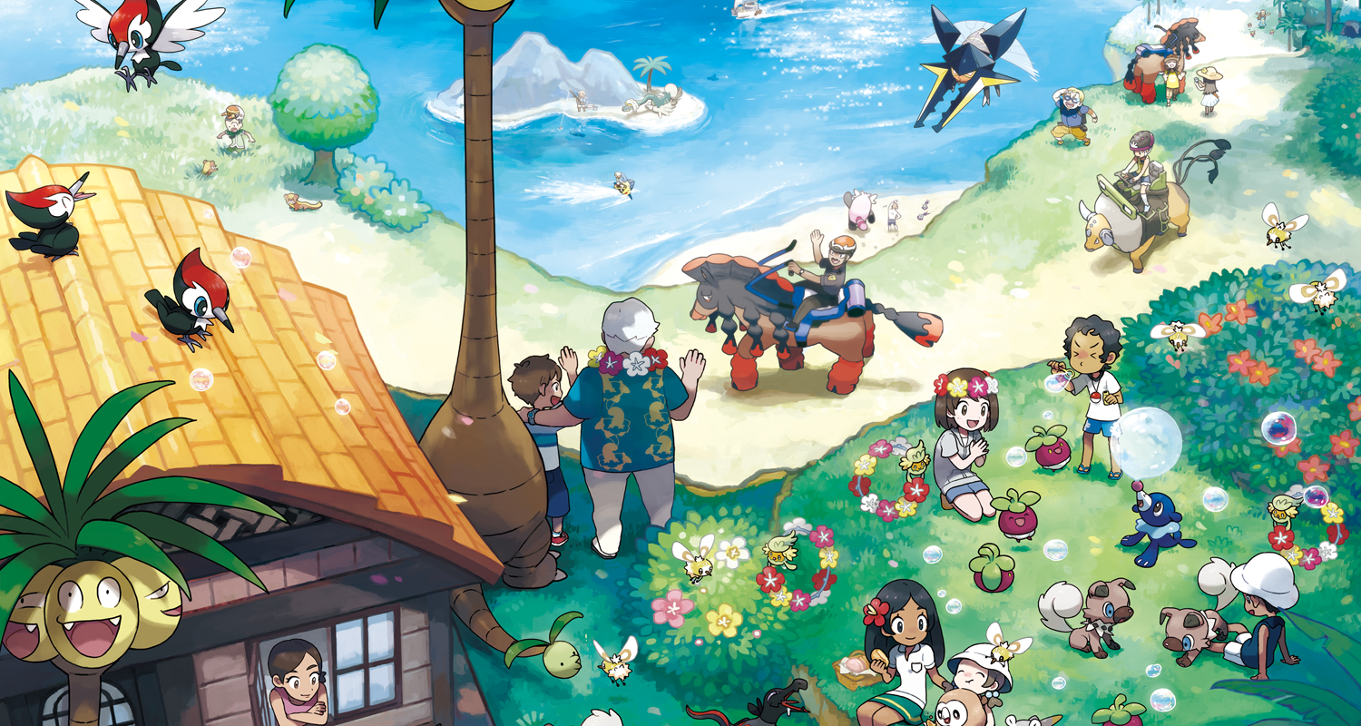 Pokemon Sun Moon Artwork