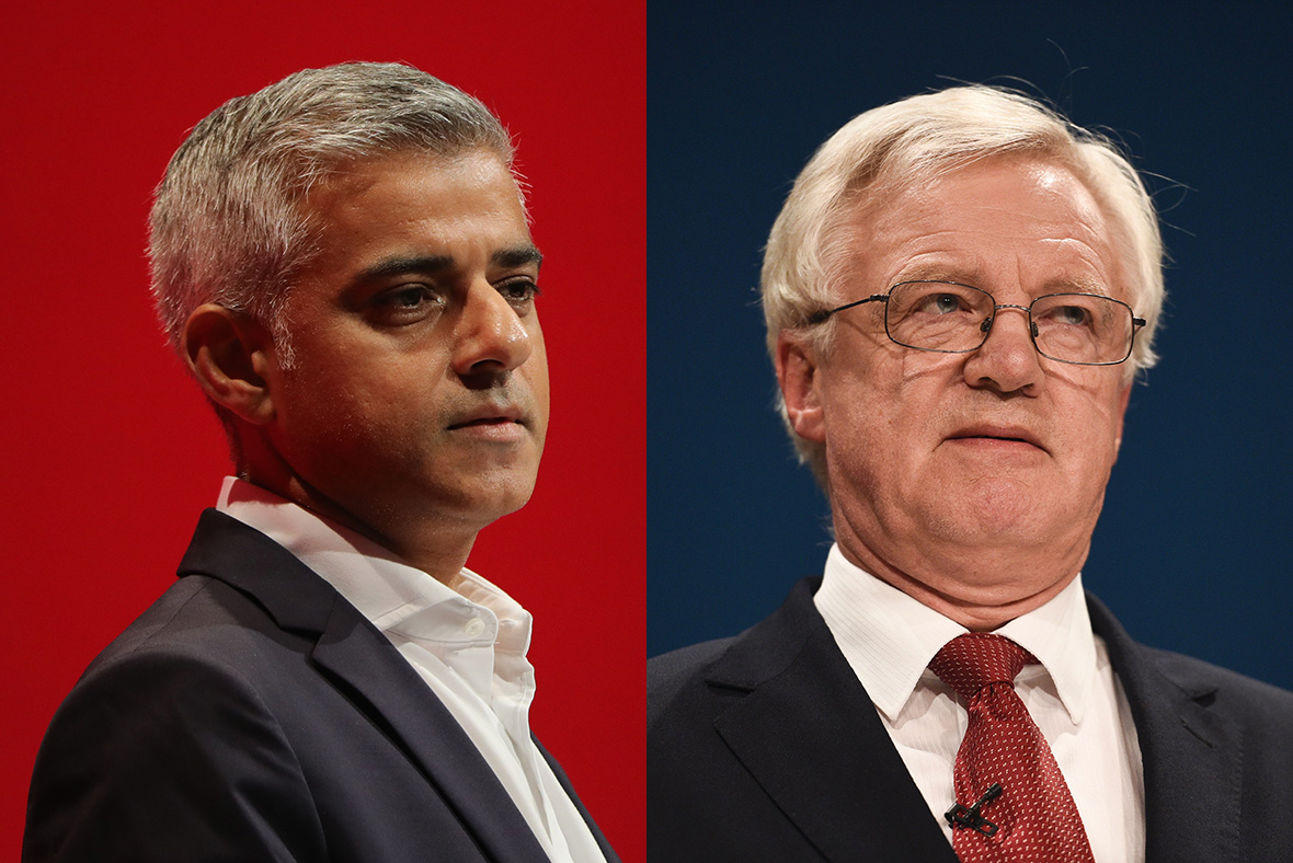 Sadiq Khan and David Davis
