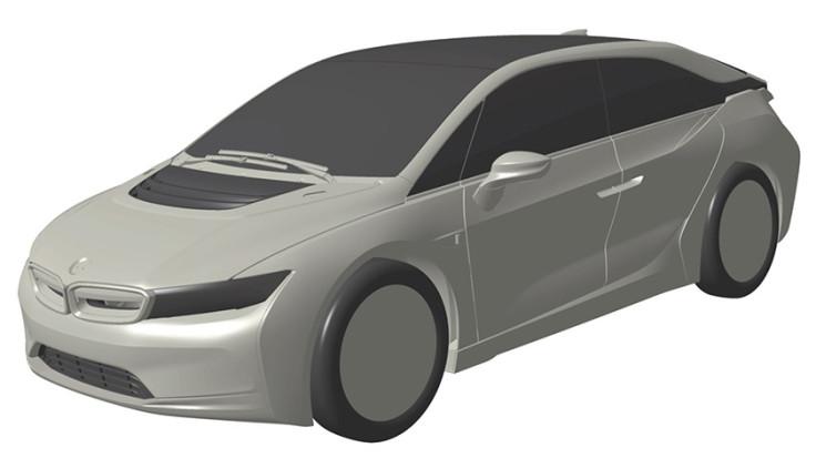 BMW i4 electric hatchback patent