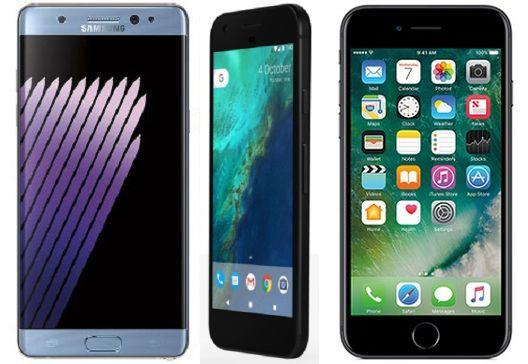 Note 7 vs Pixel XL vs iPhone7