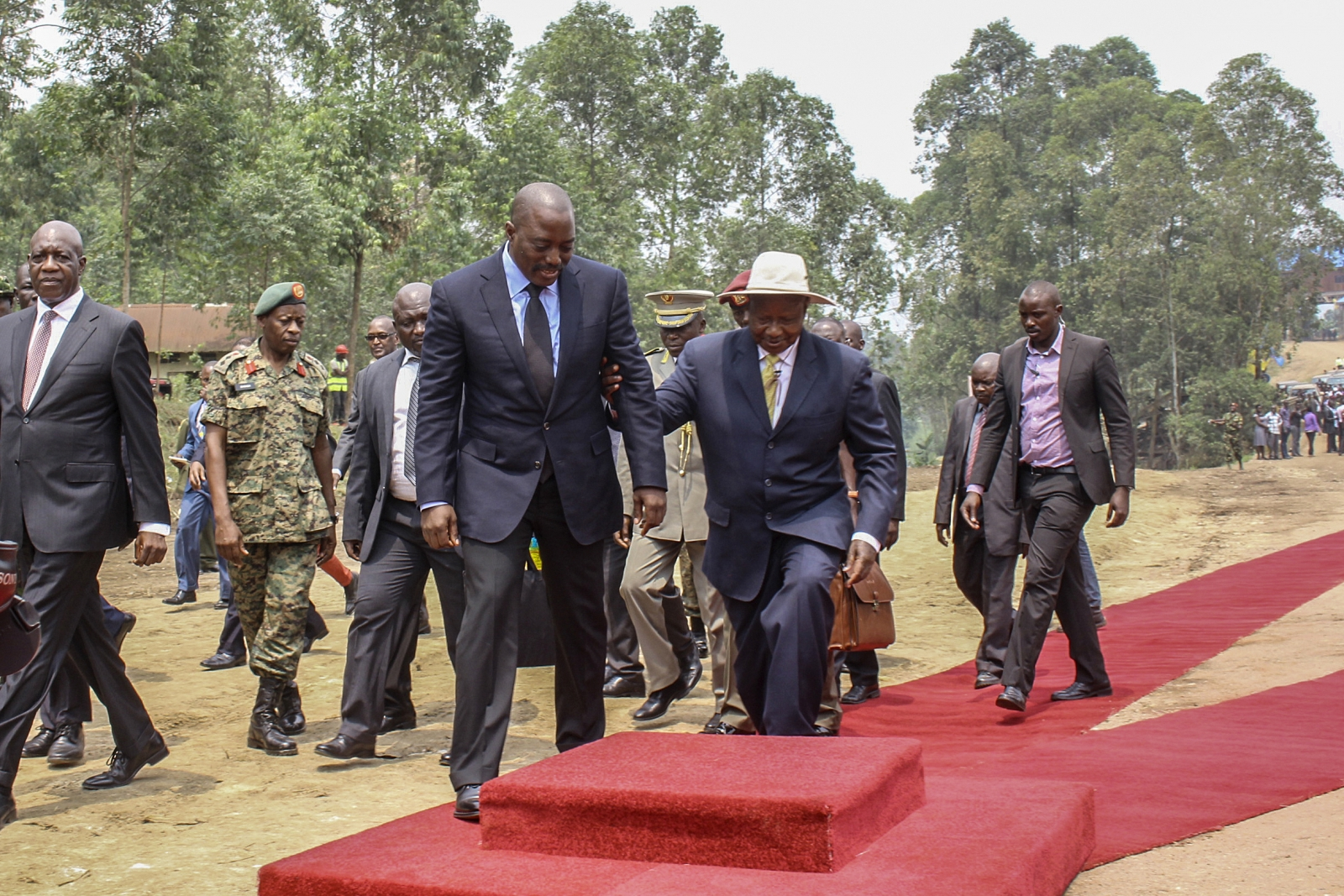 Joseph Kabila and Yoweri Museveni
