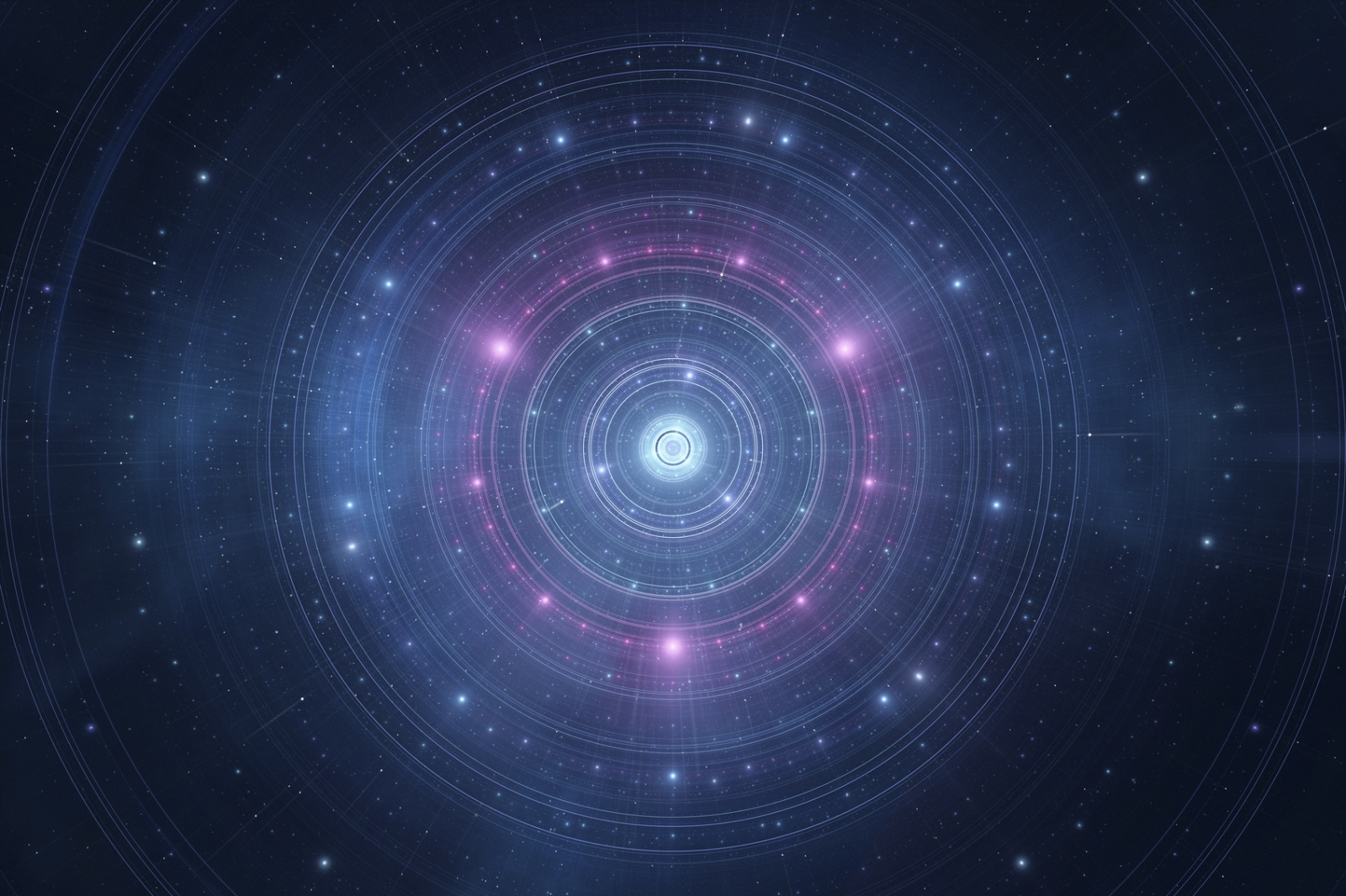 Abstract astrological time wheel in space