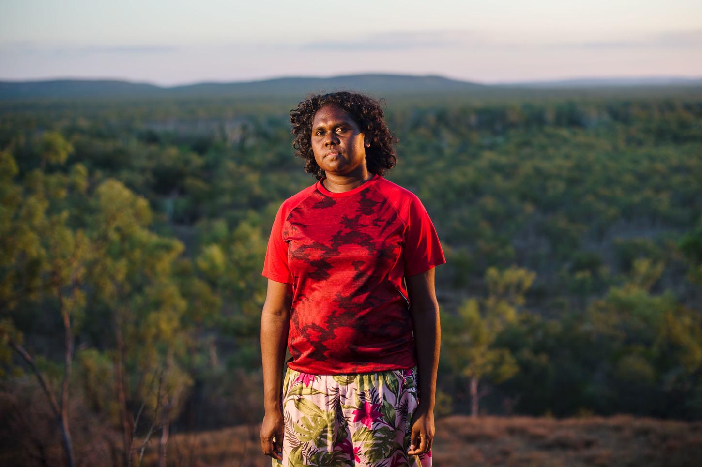 Angelina Joshua, young Marra Aboriginal woman