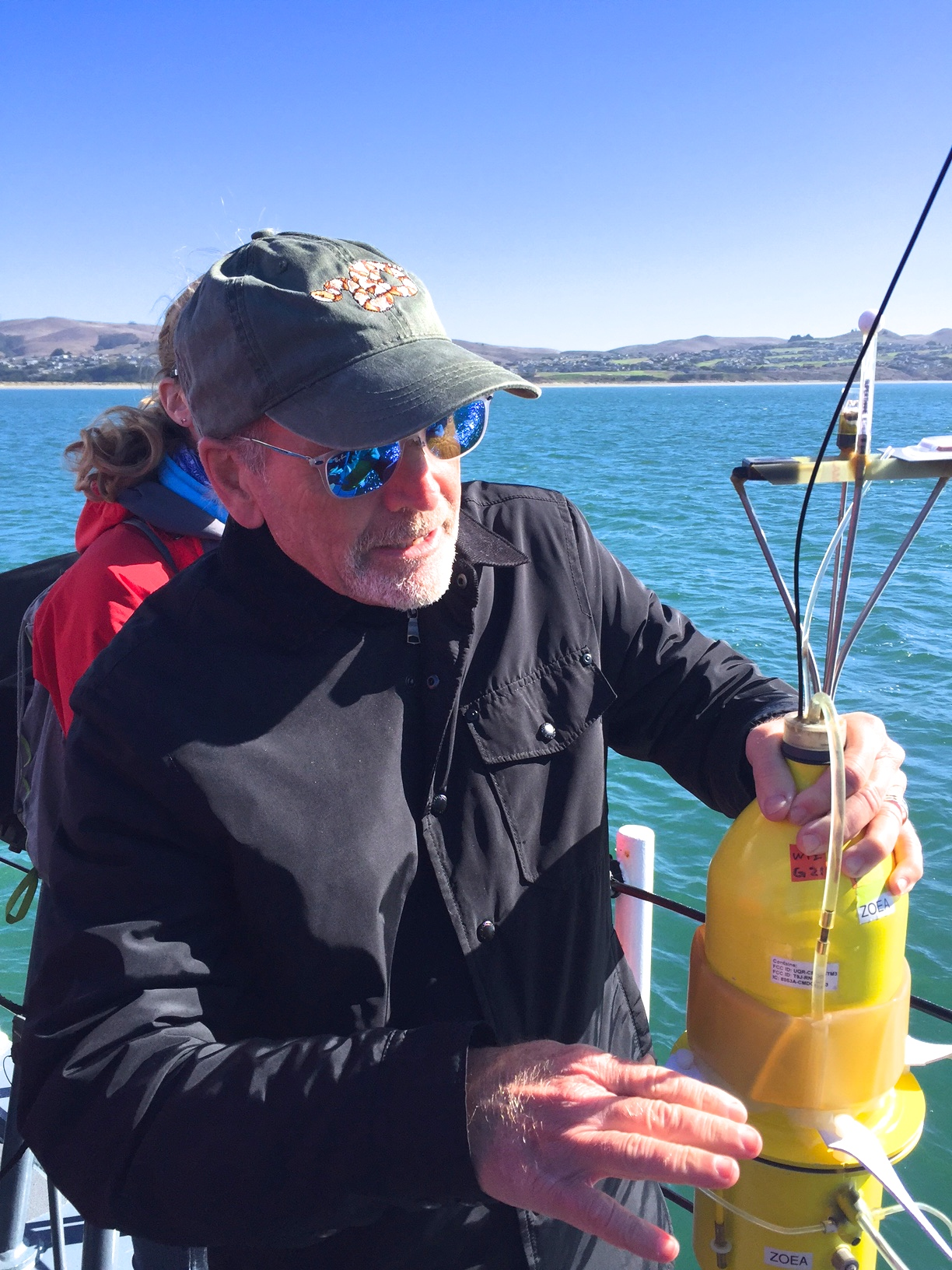 Steven Morgan with seabot