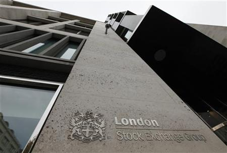 The London Stock Exchange building is seen in central London