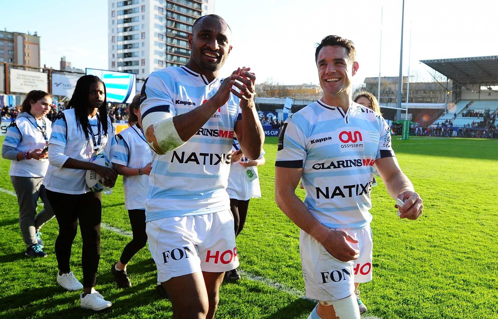 Joe Rokocoko and Dan Carter