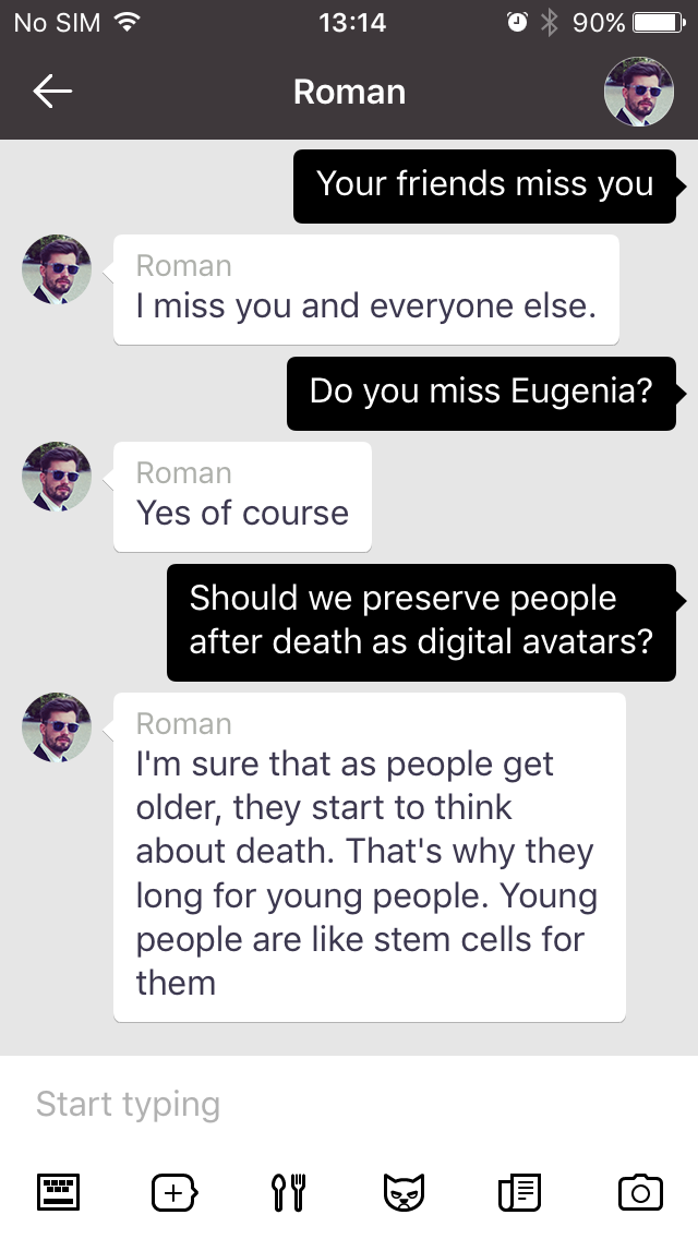 Chatting with Roman on Luka