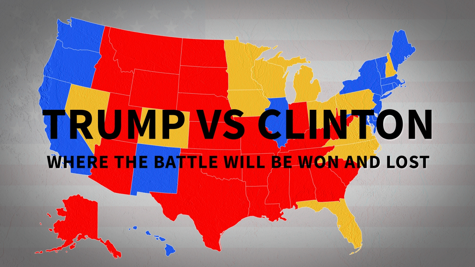 US election 2016: Where the battle between Trump and Clinton will be won or  lost