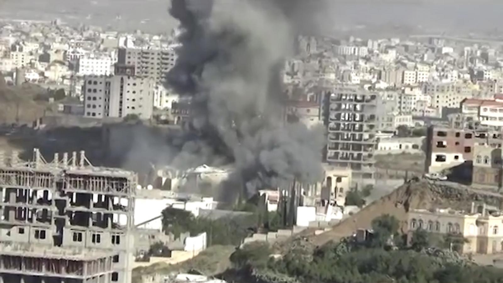 Yemen funeral bombing by Saudi Arabia