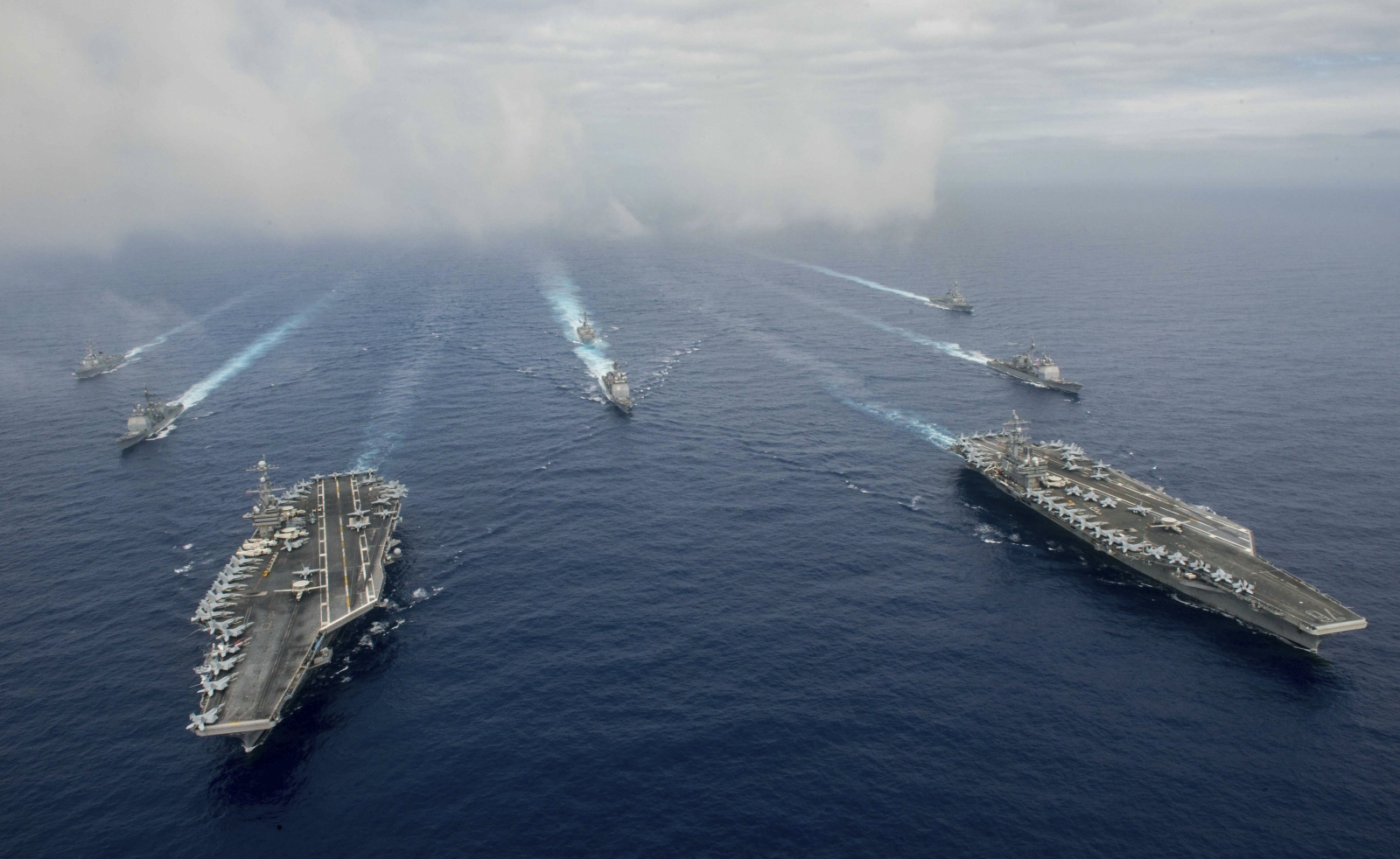 United States deploys nuclear aircraft carrier USS Ronald Reagan to joint naval drill