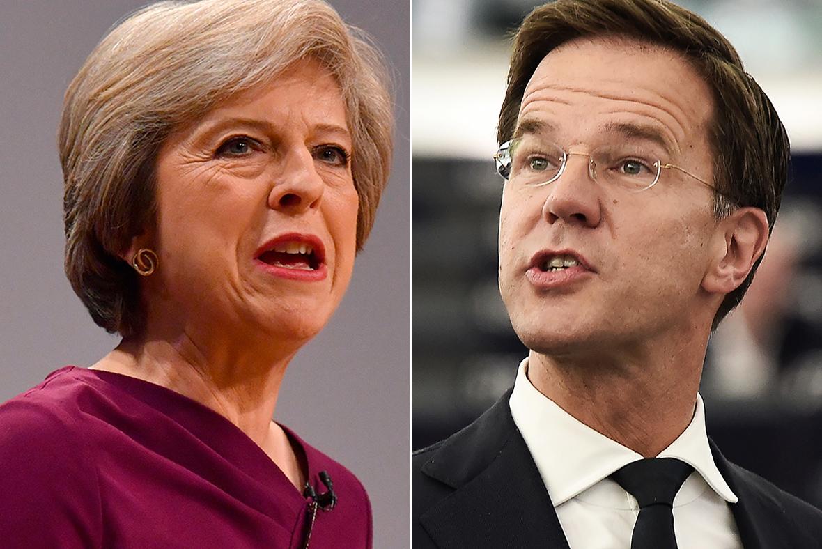 Theresa May, Mark Rutte