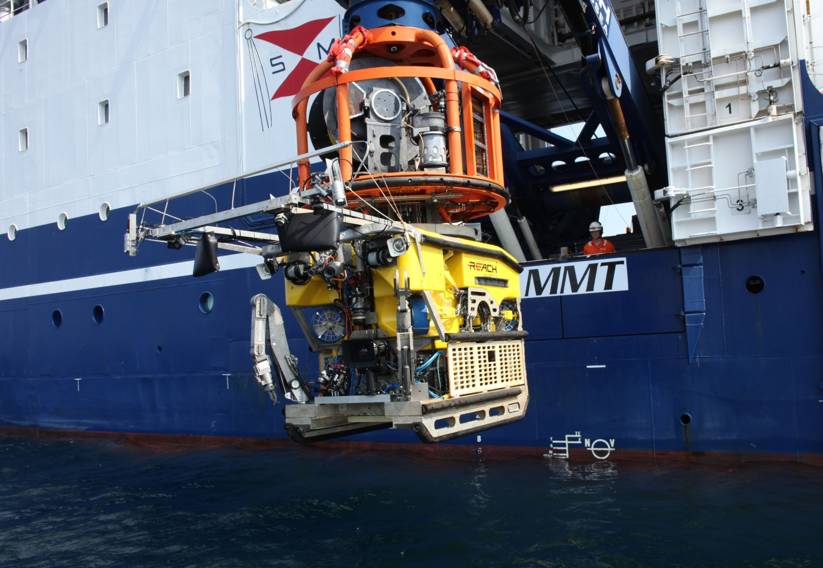 The ROV is launched from the vessel Stril Explorer