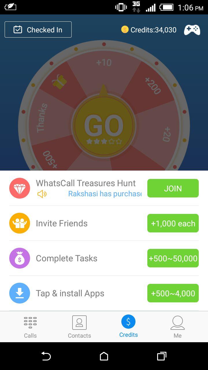 WhatsCall app