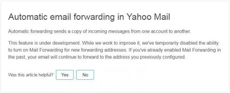 Yahoo Mail message