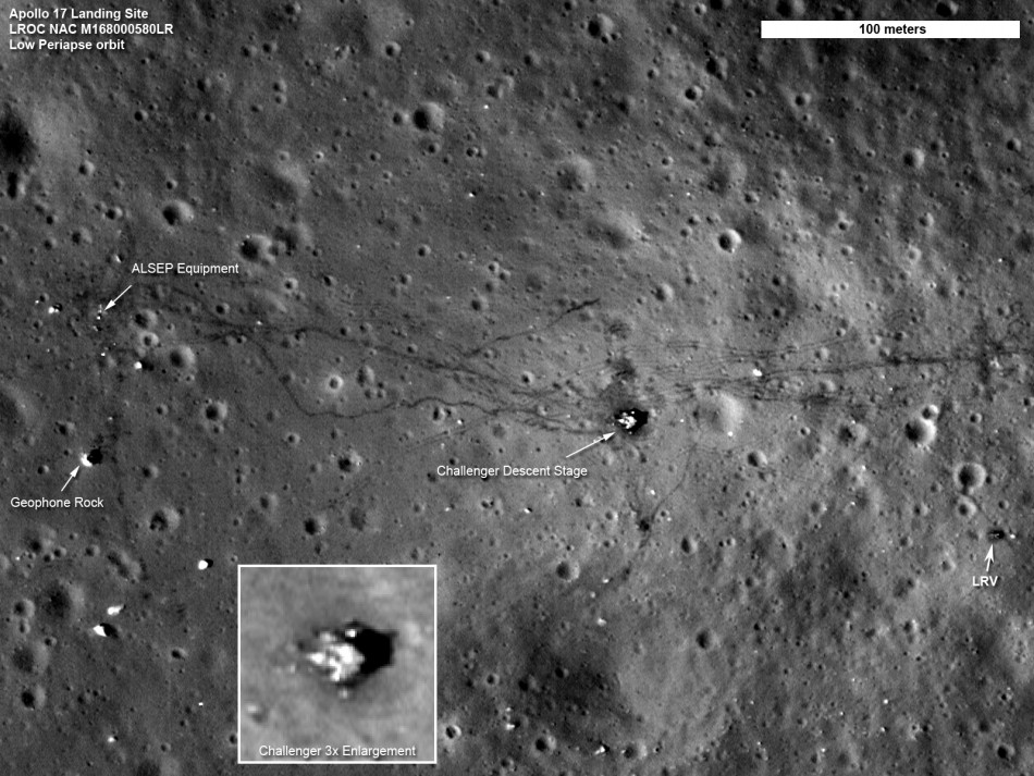 NASA Capture Images Showing Mans' Lasting Effect on the Moon