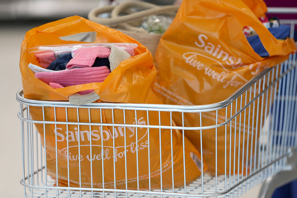 Sainsbury's supermarket sales dip