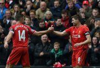 Jordan Henderson (left) and Steven Gerrard