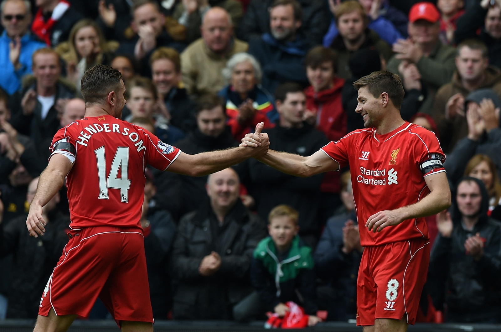 Jordan Henderson (left) and Steven Gerrard