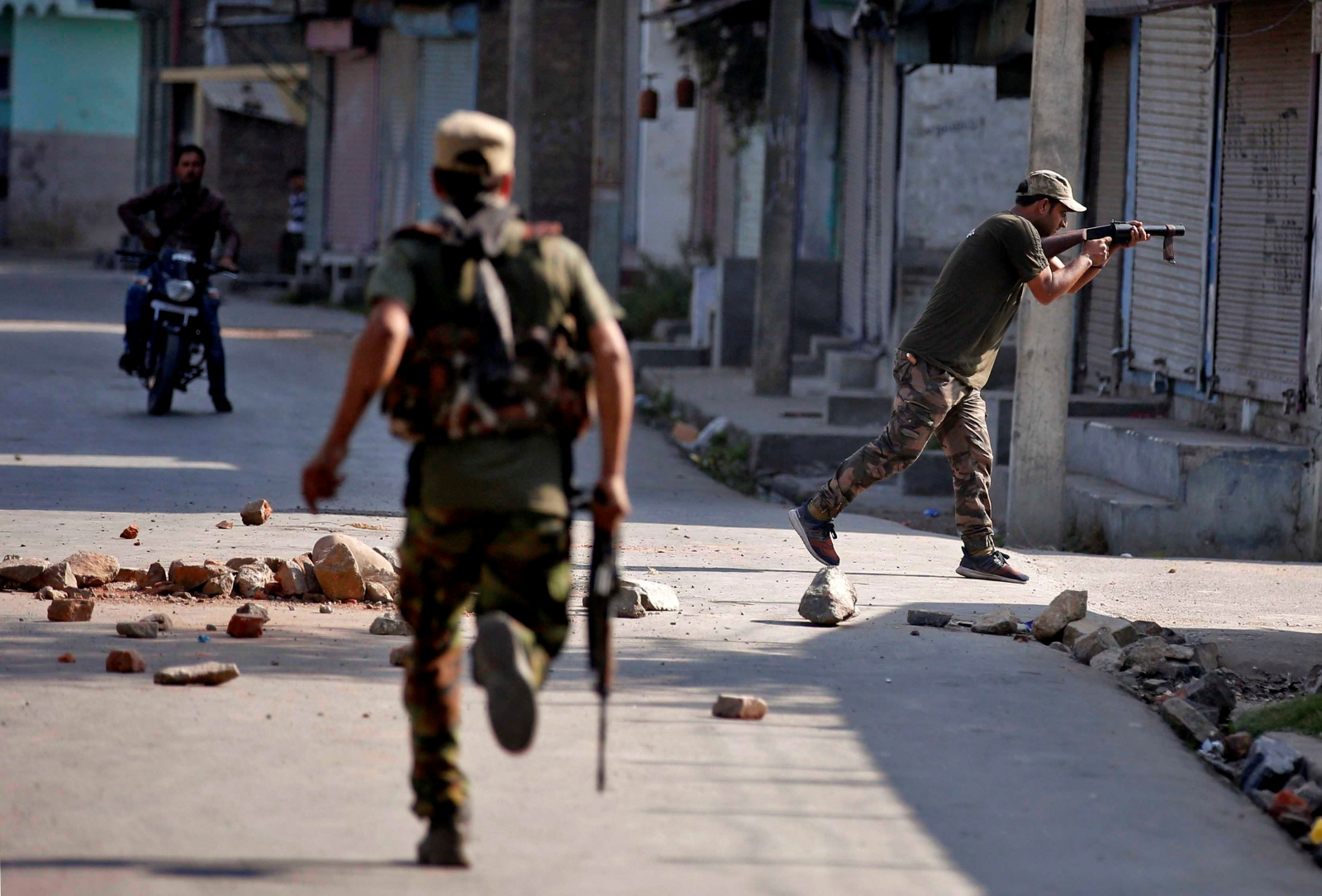 Indian forces battled two militants for 56 hours in held-Kashmir