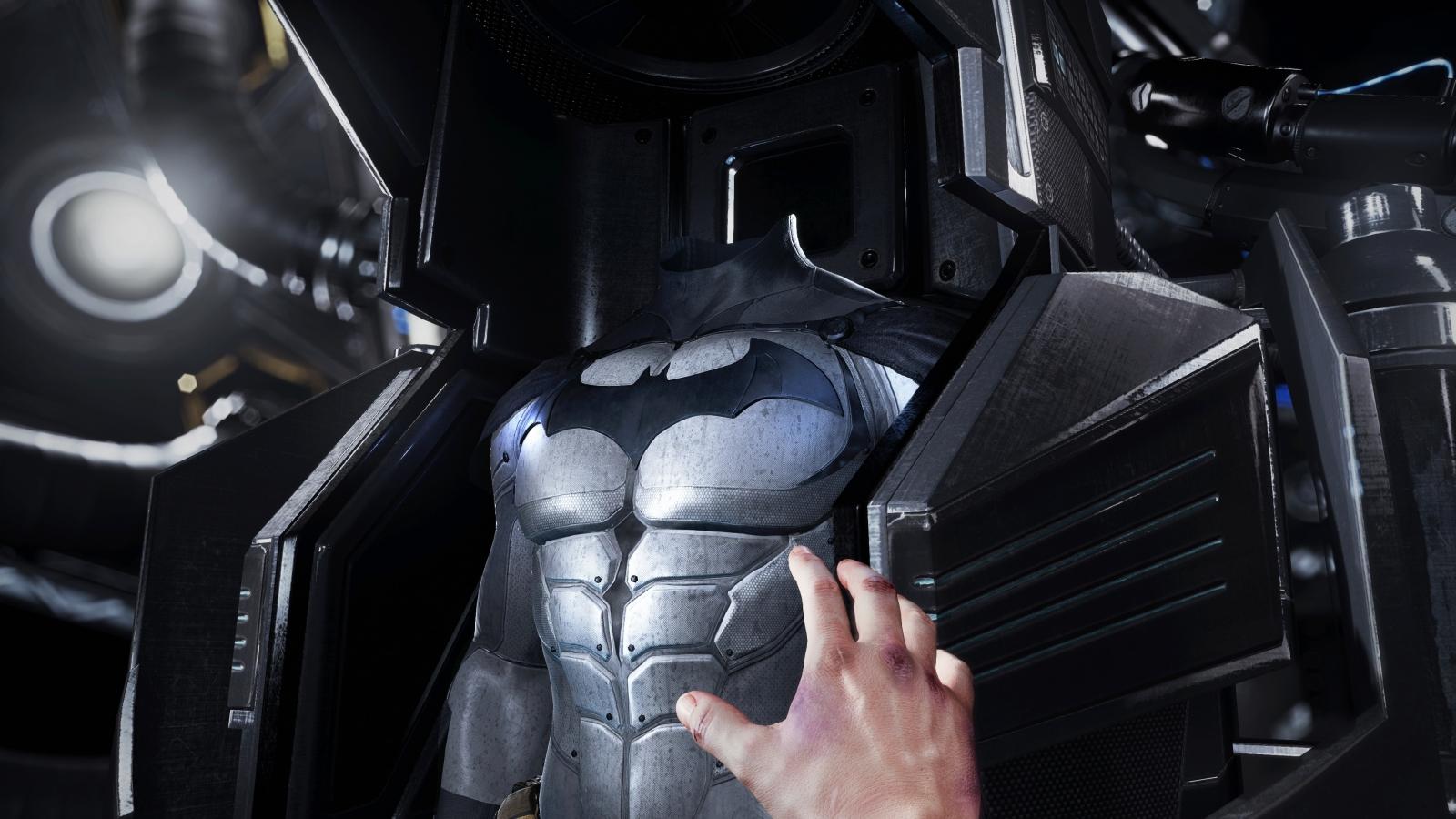 Batman: Arkham VR batsuit