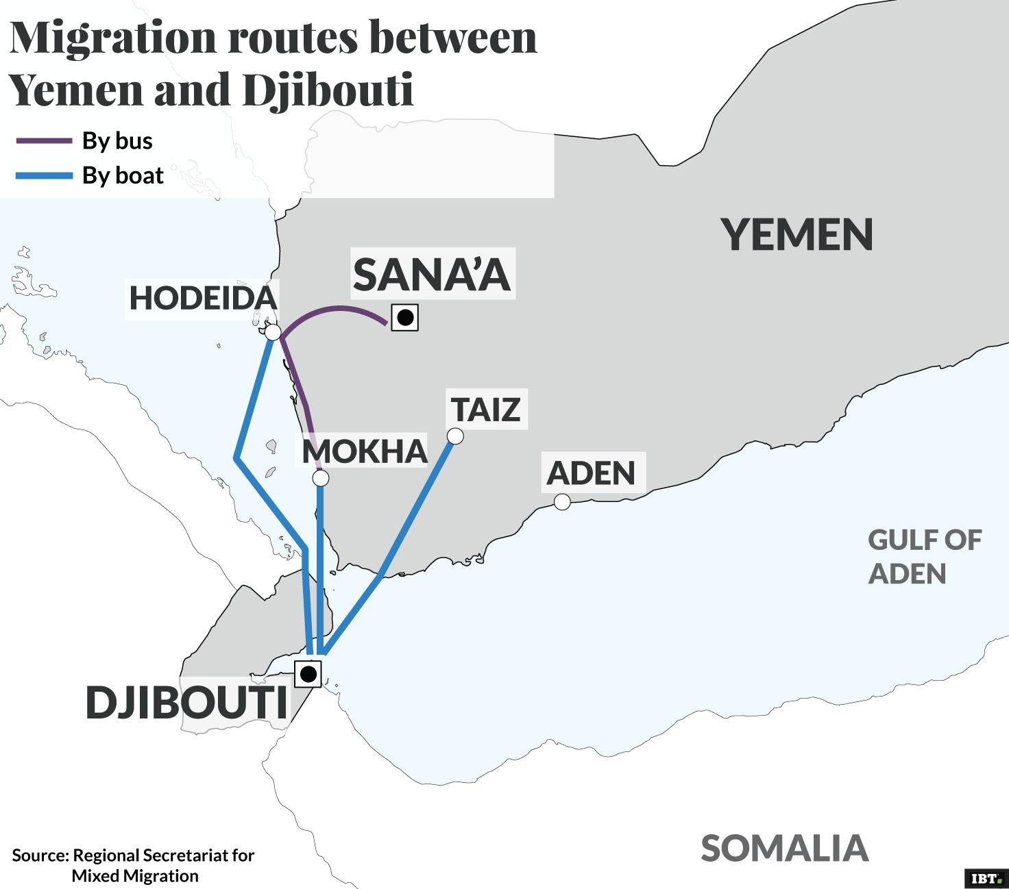Desperate Yemenis flee Saudi airstrikes by boat - CNN  Yemen And Djibouti