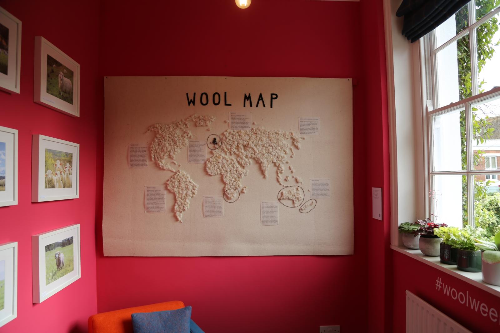 Wool B&B study hosting the 'wool map'