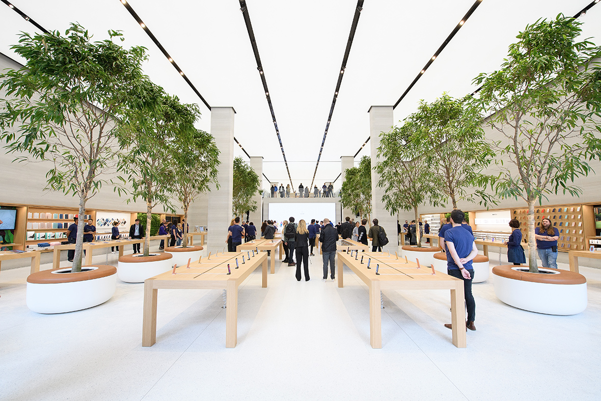 Inside the upgraded Apple store due to reopen on London's Regent