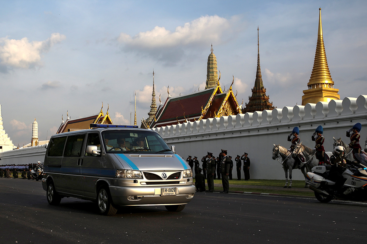 Thailand king funeral procession