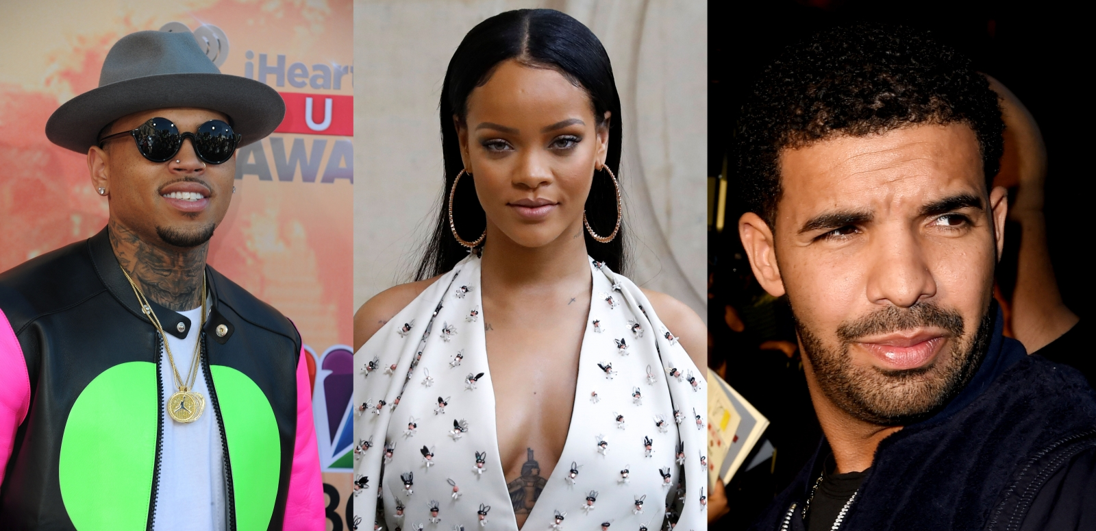Rihanna, Drake and Chris Brown