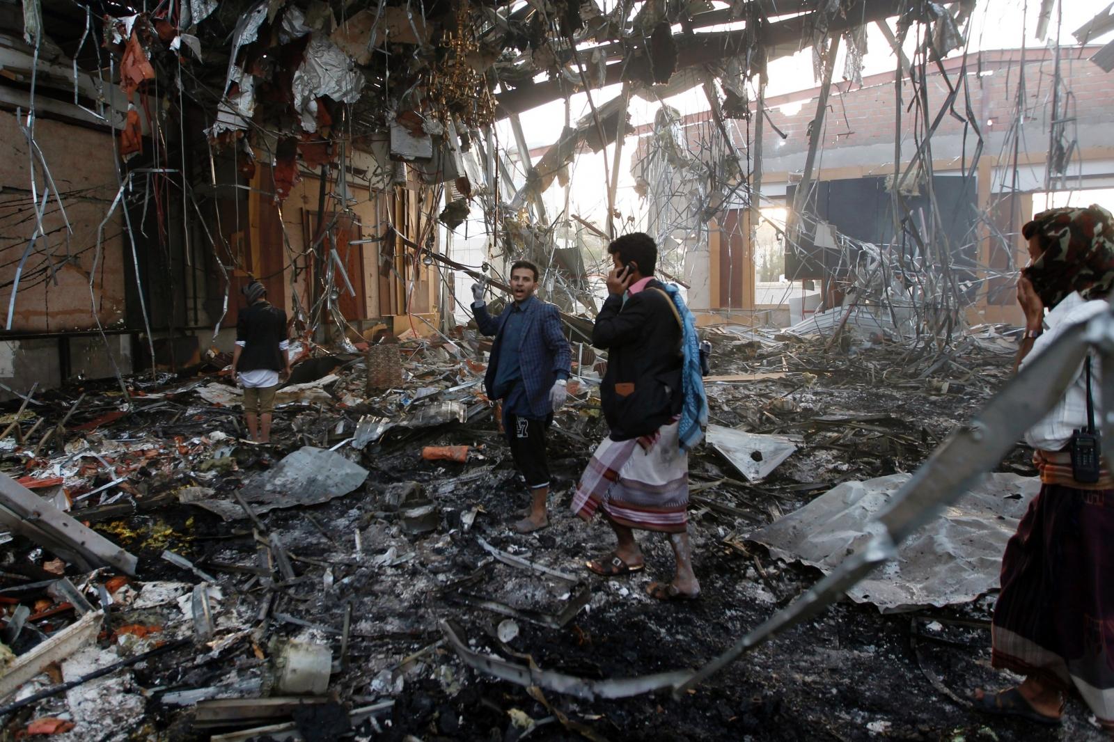 Sanaa airstrike aftermath