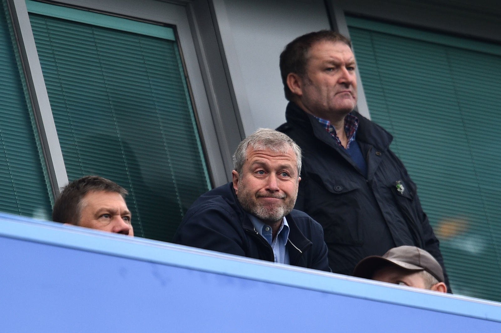 Roman Abramovich watches the game