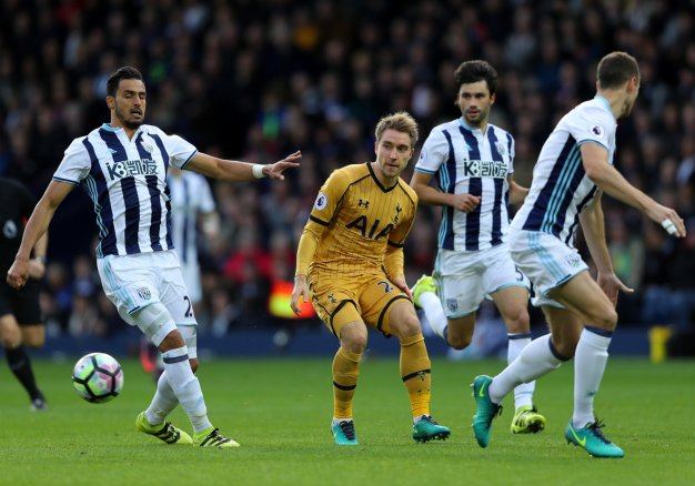 Christian Eriksen looks for an opening