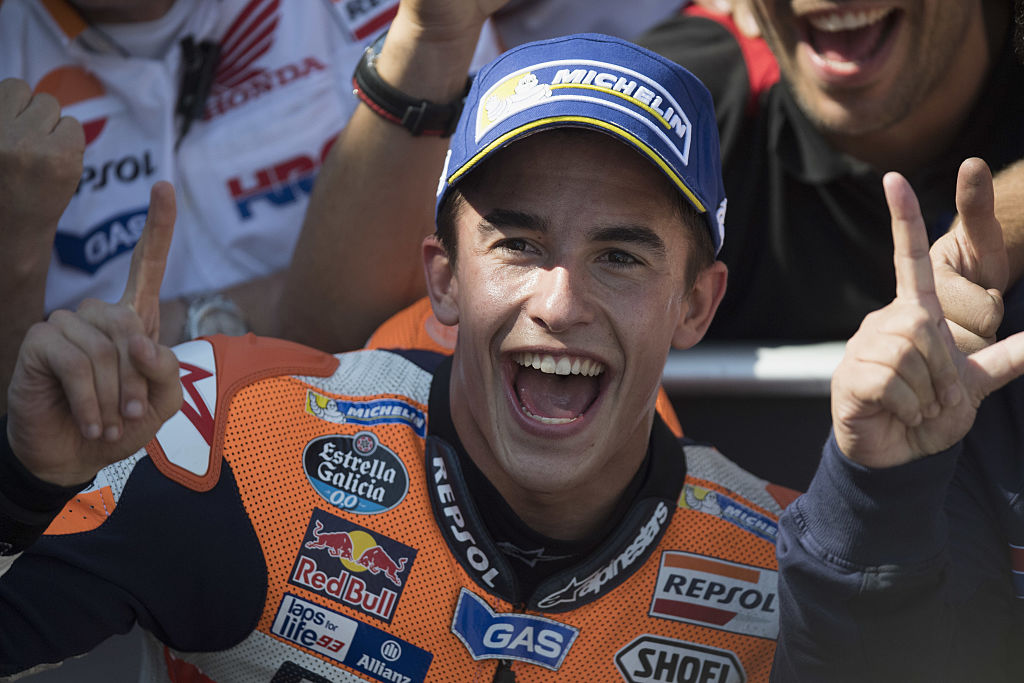 Marc Marquez, 2016 MotoGP champion: Rossi and Lorenzo crash out to hand Honda rider third title