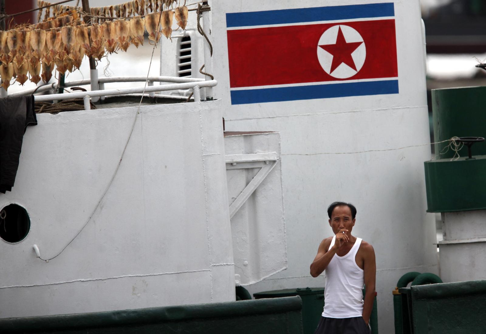 North Korea fishing boat