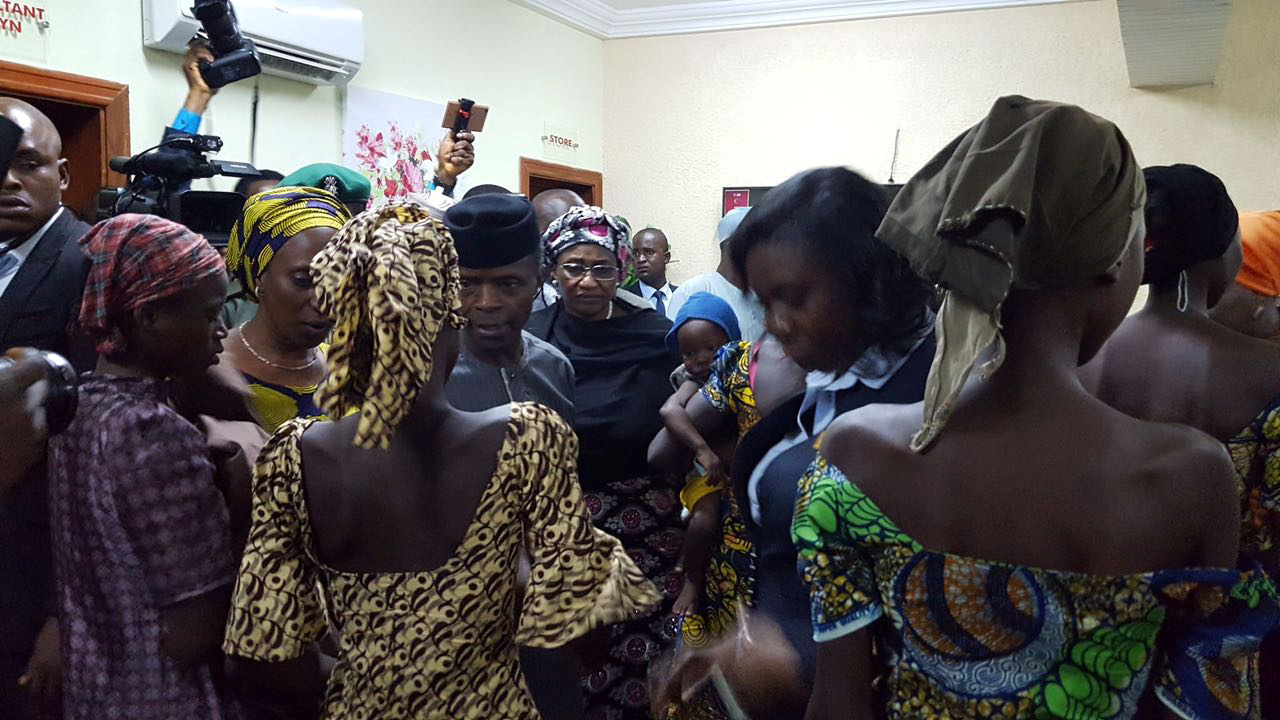 Nigerian parents reunite with 21 girls freed by Boko Haram