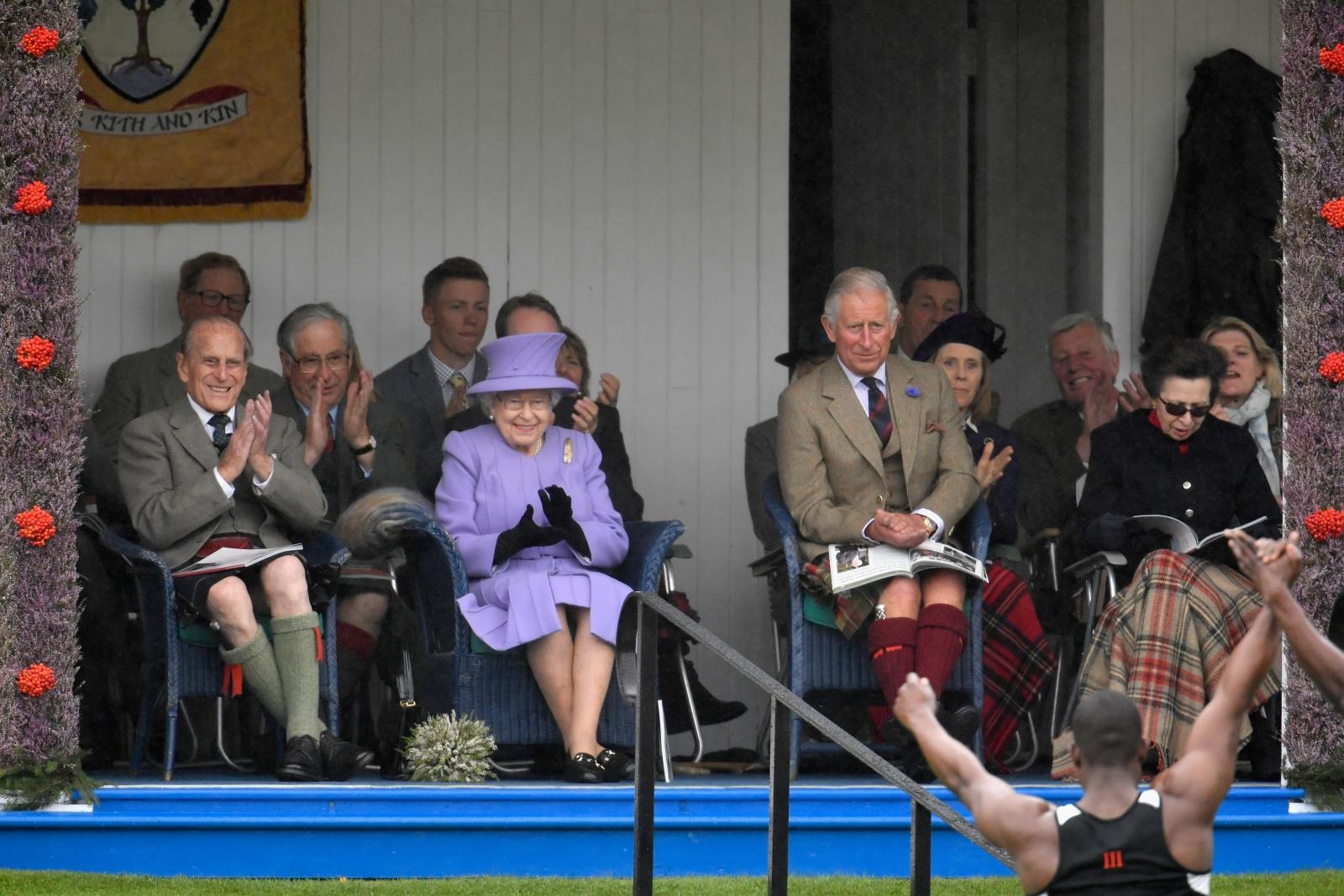 The Royal family at Braemar