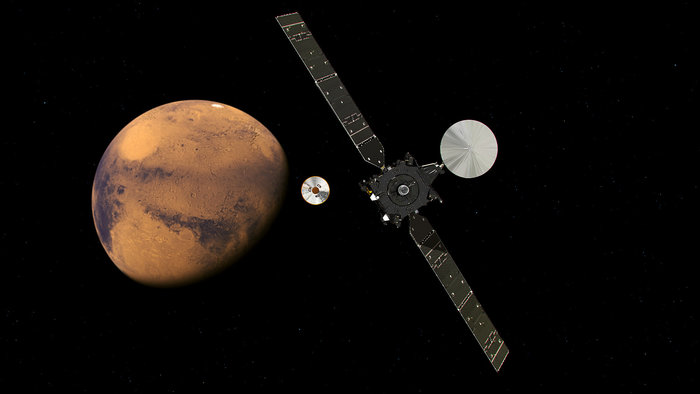 The ExoMars Spacecraft Approaches the Red Planet