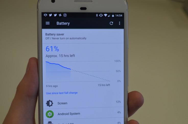Google Pixel battery life