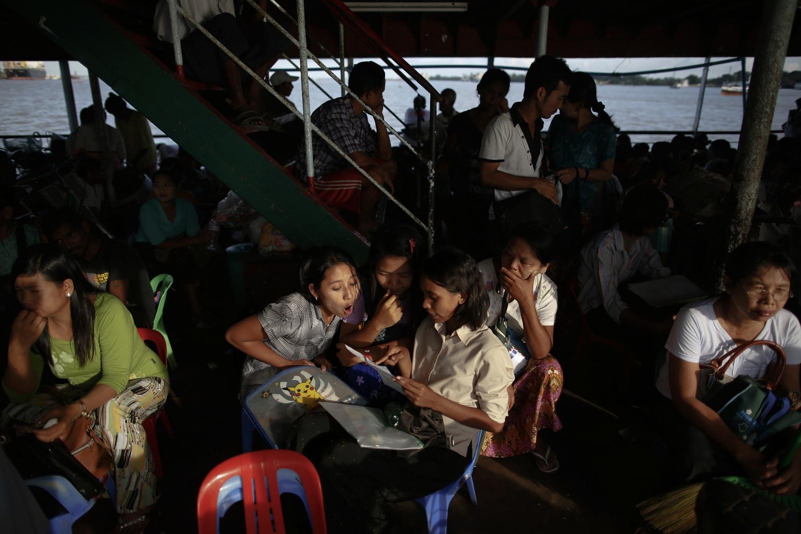Myanmar ferry