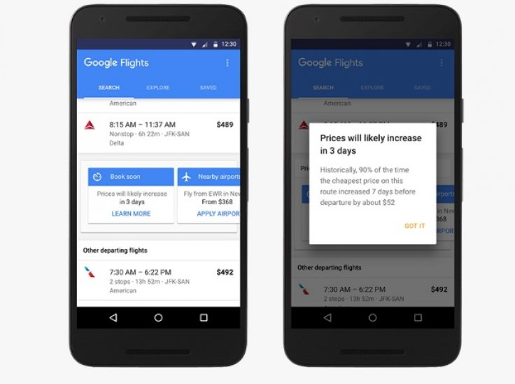 google flights to indicate when airfares will rise helping. Black Bedroom Furniture Sets. Home Design Ideas