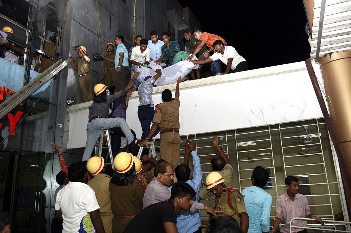 India hospital fire