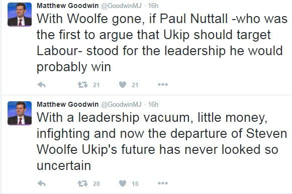 Tweets from Matthew Goodwin