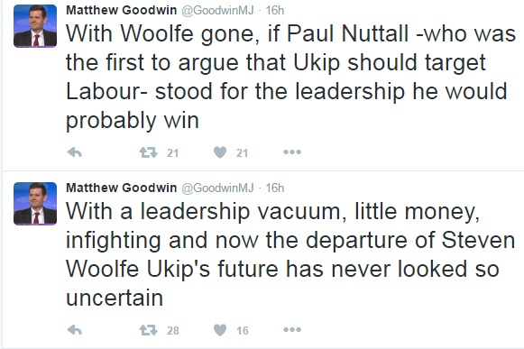 Tweets from Matthew Goodwin