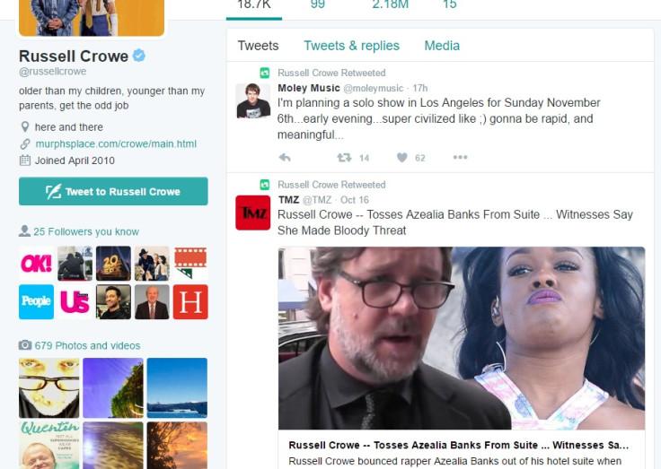 Russell Crowe Twitter