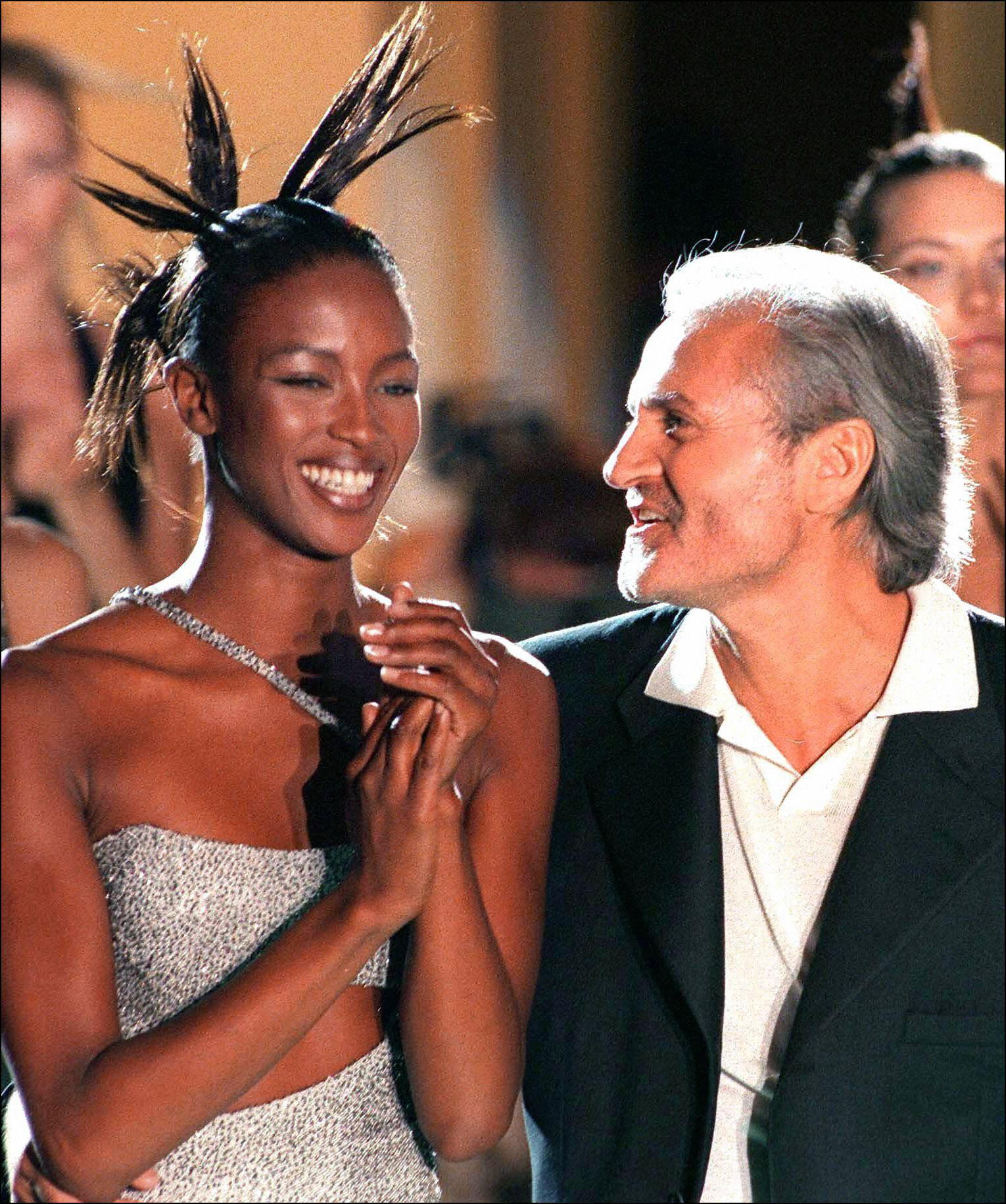 Naomi Campbell and Gianni Versace